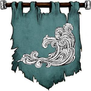 The Symbol of Aegir - Rough ocean waves