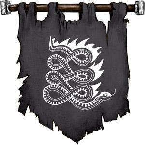 The Symbol of Apep - Flaming snake
