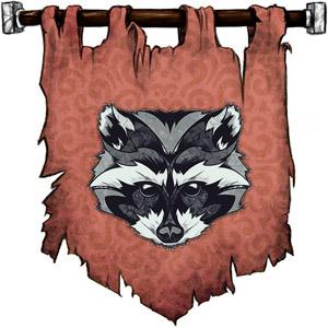 The Symbol of Baervan Wildwanderer - A raccoon's face
