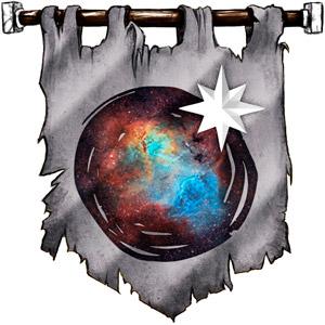 The Symbol of Bahamut - Star above a milky nebula