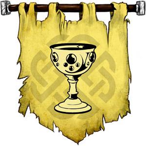 The Symbol of Balder - Gem-encrusted silver chalice