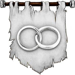 The Symbol of Berronar Truesilver - Two silver rings