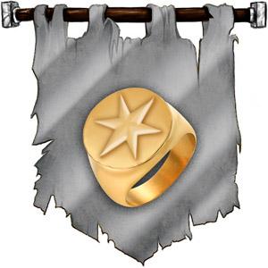The Symbol of Callarduran Smoothhands - Gold ring with star symbol