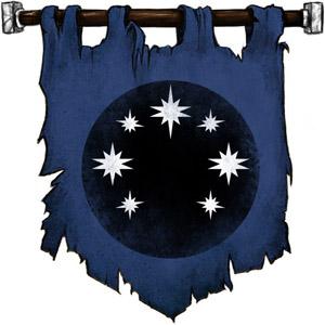 The Symbol of Celestian - Black circle set with seven stars