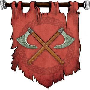 The Symbol of Clangeddin Silverbeard - Two crossed battleaxes