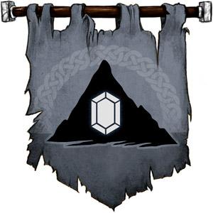 The Symbol of Dumathoin - Faceted gem inside a mountain