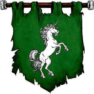 The Symbol of Ehlonna - Rampant Unicorn (or a unicorn horn)