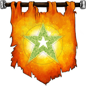 The Symbol of Elishar - A five-pointed star with another five-pointed star within its center