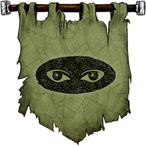 The Symbol of Fenmarel Mestarine - Pair of elven eyes in the darkness