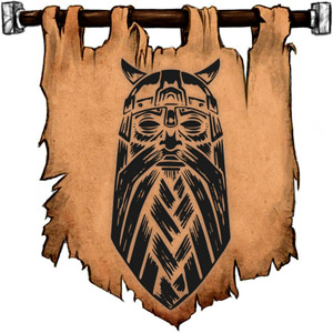 The Symbol of Forseti - Head of a bearded man