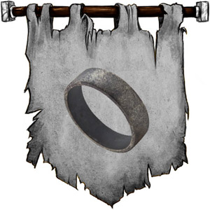 The Symbol of Gaerdal Ironhand - Iron band