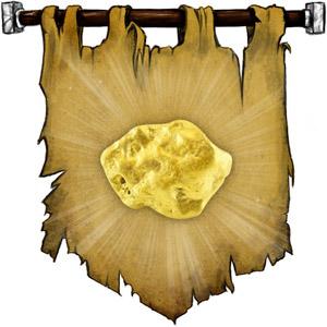 The Symbol of Garl Glittergold - A nugget of gold