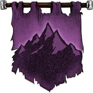 The Symbol of Grumbar - Mountain on purple