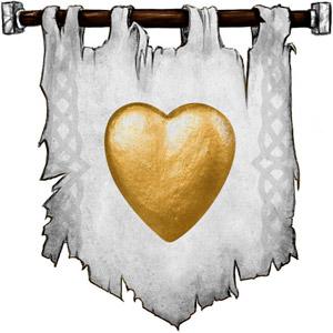 The Symbol of Hanali Celanil - Gold heart
