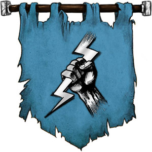 The Symbol of Heironeous - Fist holding a lightning bolt