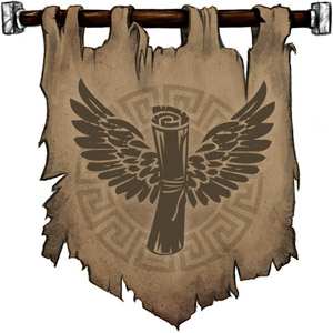 The Symbol of Hermod - Winged scroll
