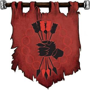 The Symbol of Hextor - Fist holding six arrows