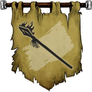 The Symbol of Hiatea - A flaming spear