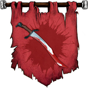 The Symbol of Ilneval - Bloodied longsword