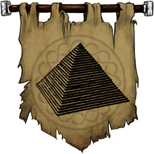 The Symbol of Imhotep - A step pyramid