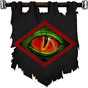 The Symbol of Incabulos - Green reptile eye within a diamond