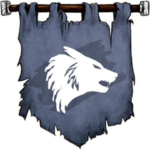 The Symbol of Karontor - A winter wolf's head