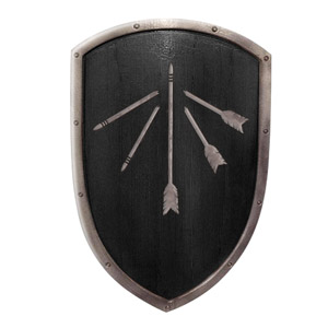 The Symbol of Laduguer - Broken crossbow bolt on a shield