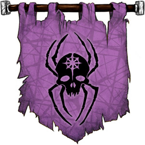 The Symbol of Lolth - Black spider with the skull of a drow female