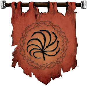 The Symbol of Loviatar - Nine-tailed barbed scourge