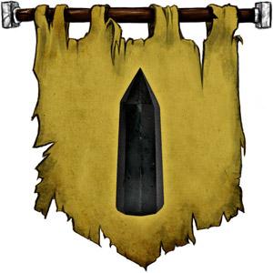 The Symbol of Memnor - A thin black obelisk