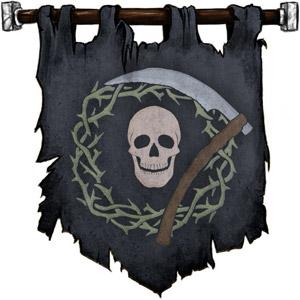 The Symbol of Nerull - Skull and scythe