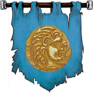 The Symbol of Njord - Gold coin