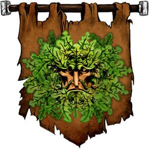 The Symbol of Obad-hai - Mask of oak leaves and acorns
