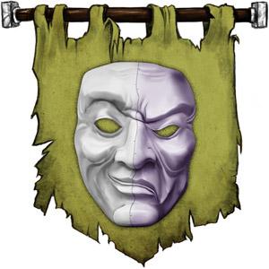 The Symbol of Olidammara - A mask, half laughing, half sad or angry