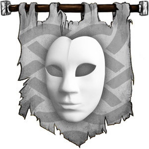 The Symbol of Rao - Heart-shaped mask with a calm expression