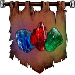The Symbol of Segojan Earthcaller - Glowing gemstones