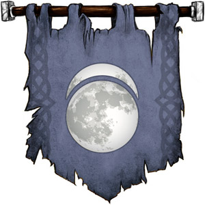 The Symbol of Sehanine Moonbow - Misty crescent above a full moon