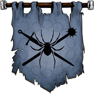 The Symbol of Selvetarm - Spider on a crossed sword and mace