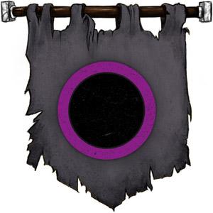 The Symbol of Shar - Black disk with deep purple border