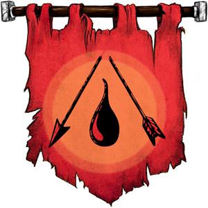 The Symbol of Shevarash - Broken arrow above a teardrop