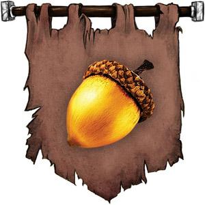 The Symbol of Shiallia - Golden acorn