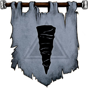 The Symbol of Skoraeus Stonebones - A stalactite.