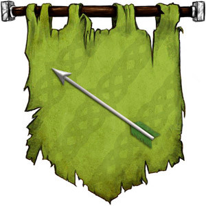 The Symbol of Solonor Thelandira - Silver arrow with green fletching