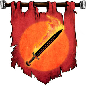 The Symbol of Surtr - Flaming sword