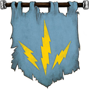 The Symbol of Talos - Three lightning bolts radiating from a point