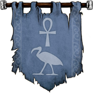 The Symbol of Thoth - Ankh above an ibis (bird with a long beak) head