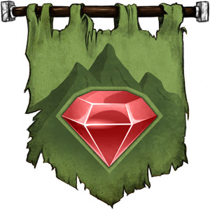 The Symbol of Ulaa - Mountain with a ruby heart