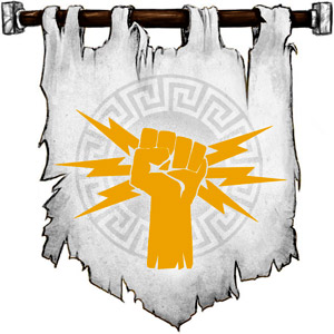 The Symbol of Zeus - Fist filled with lightning bolts